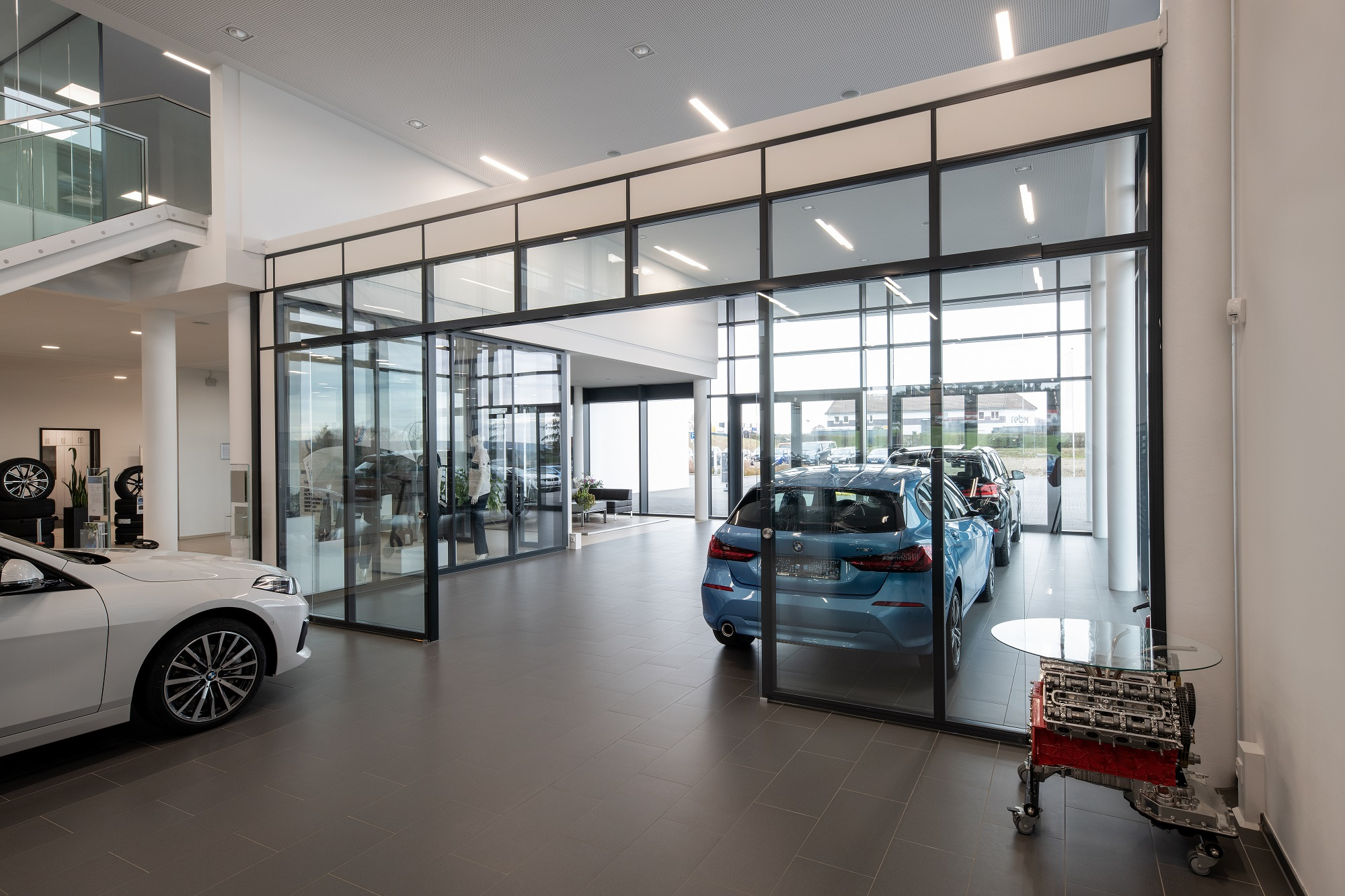 Four different Maars partition in one building for a BMW showroom