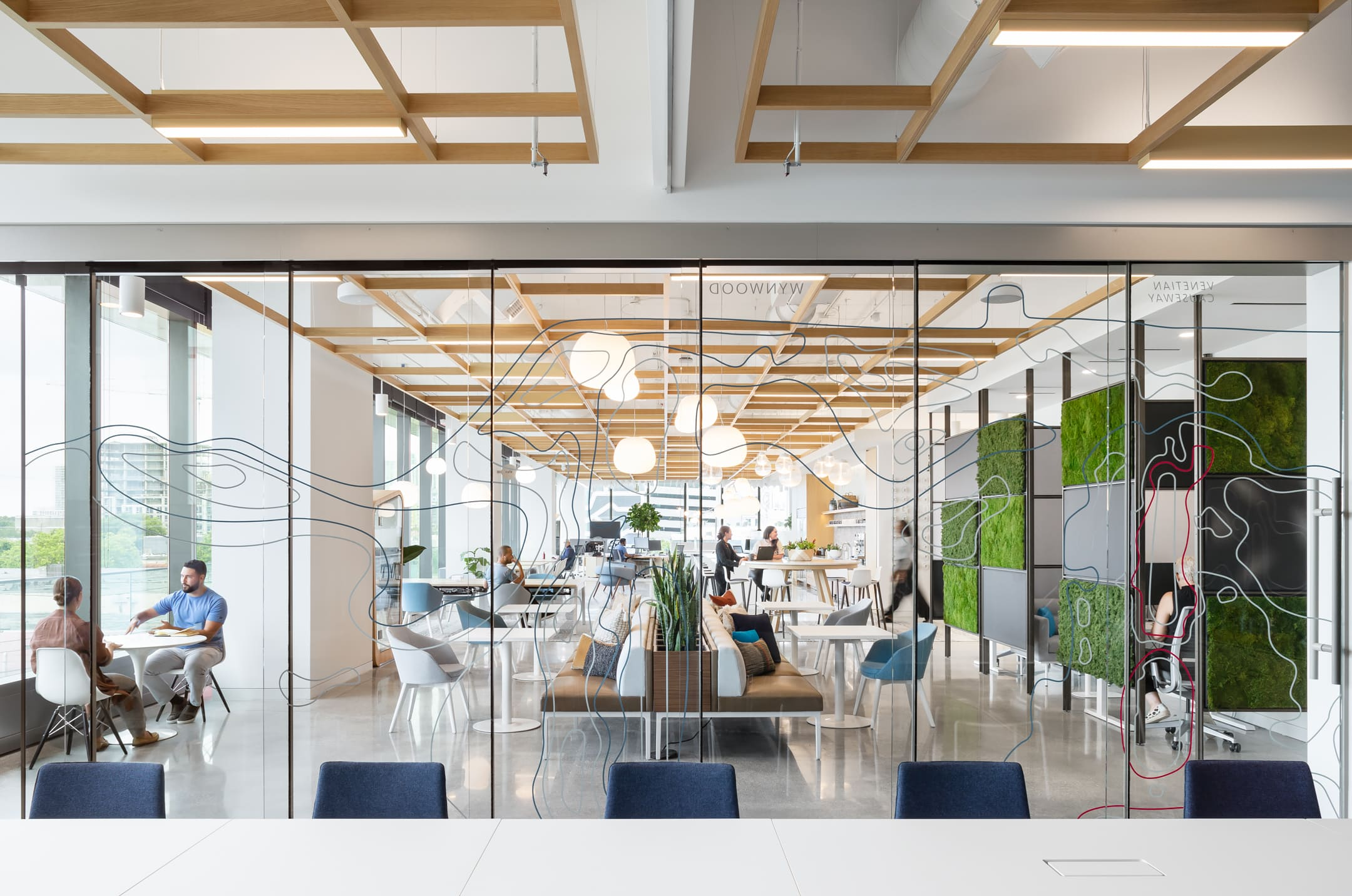 A unique installation of M923. for Gensler office Miami.